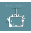 Abstract christmas background with gift box christ vector