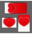 Labels with heart vector