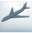Background with airplane symbol vector