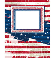 Usa background with one decorative label vector