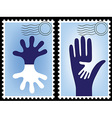 Postage stamp postcard vector
