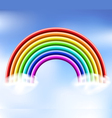 3d rainbow in the sky vector