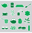 Tea stickers set eps10 vector