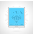 Colorful icon for heating controller device vector