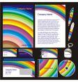 Company stationery templates vector