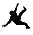Man dancing black silhouette vector