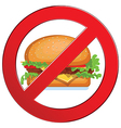 Sign forbidden fast food vector