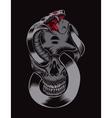 Skull with cobra vector