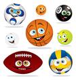 Funny balls vector