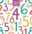 Numbers pattern vector