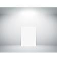 White sheet stands near a wall vector