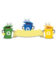 Funny recycling bins vector