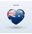 Love australia symbol heart flag icon vector