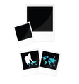 Travel picture frame in black color vector
