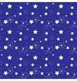 White stars on a blue background seamless pattern vector