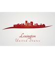 Lexington skyline in red vector