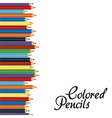 Close up of color pencils with different color ove vector