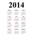 Vertical calendar for 2014 vector