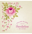 Card of color rose vector