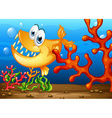Underwater and fish vector