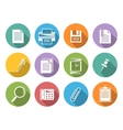Office iconsflat icons with shadow vector