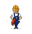 Profession construction worker cartoon figure vector