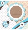 Blue romantic baby card vector