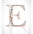 Abstract letter e vector
