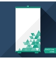 Template of advertising stand vector
