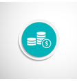 Icon coin white business wealth finance vector
