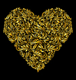 Decorated golden heart vector