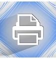 Printer flat modern web design on a flat geometric vector