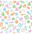 Health lifestyle seamless pattern vector