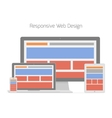 Responsive web design in different electronic vector