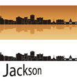 Jackson skyline in orange background vector
