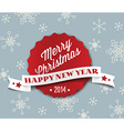 Simple vintage retro christmas card 2014 vector