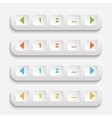 Buttons for web page vector