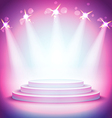 Background lights over pedestal your business vector