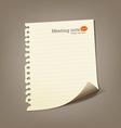 Paper meeting note vector