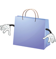 A blue bag vector