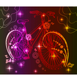 Background with bike over dark vector