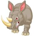 Angry rhino cartoon character vector