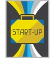 Start-up retro poster in flat design style vector