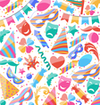 Festive wallpaper with carnival and party colorful vector