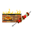Fireplace and barbecue vector
