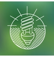 Energy saving spiral eco lamp fluorescent light vector