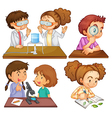 Little scientists vector