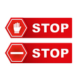 Stop signs vector