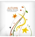 Autumn floral wave on white background vector