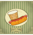 Vintage fast food menu vector